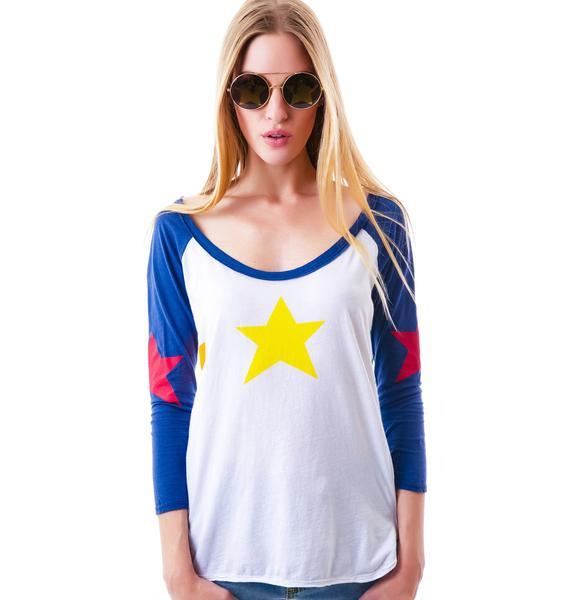 Chaser Rainbow Stars 3/4 Sleeve Baseball Tee