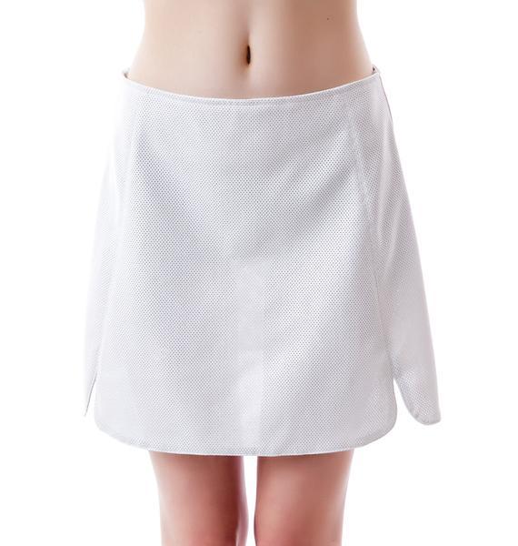 Motel Pauge Perforated Skirt
