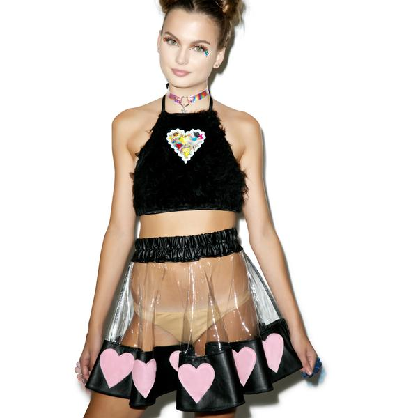 Indyanna Courtney Luv PVC Heart Skirt