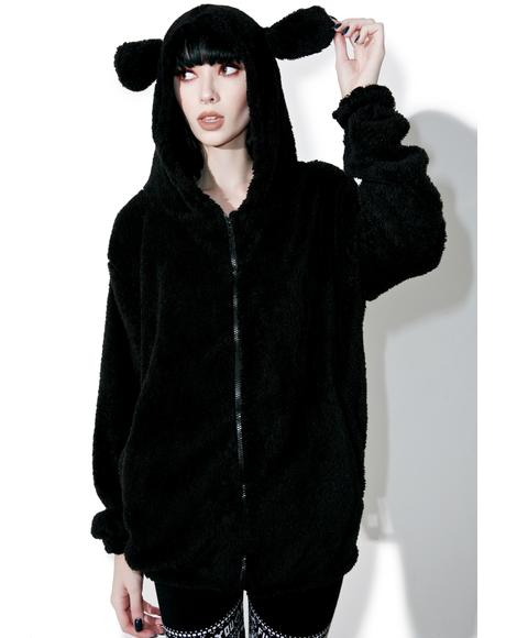 Nighttime Counting Sheep Fuzzy Hoodie