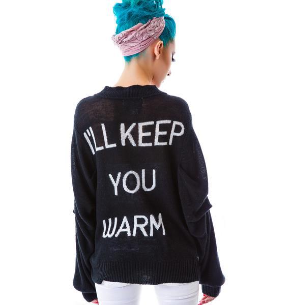 Wildfox Couture I'll Keep You Warm Bonfire Cardi
