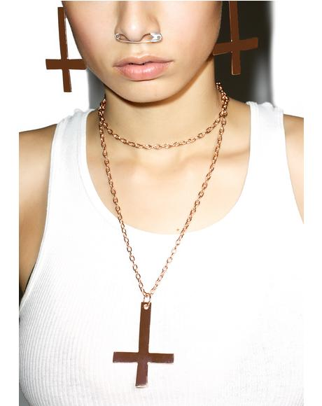 Kora Inverted Cross Necklace
