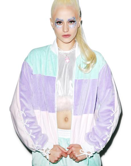 Pastel Faux Fur Jacket