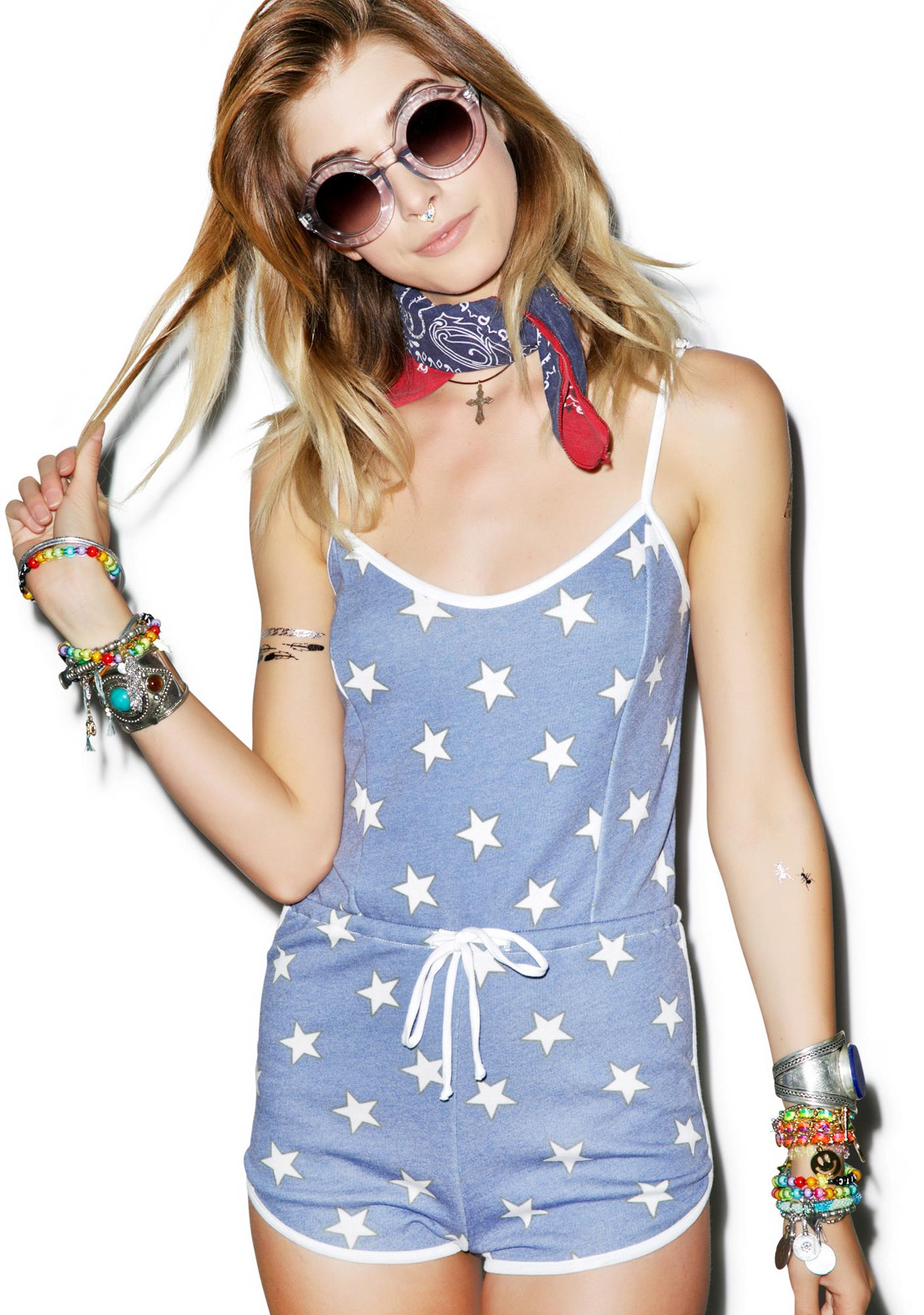 Wildfox Couture Star Spangled Pool Party Romper