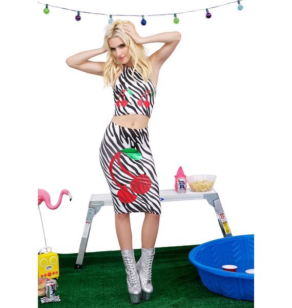 Jade Clark Cherry Skirt