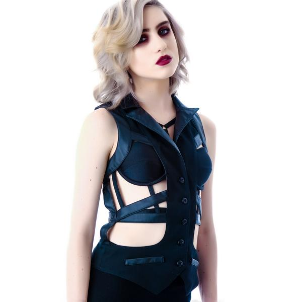 Lip Service Veggie Leather Harness Vest