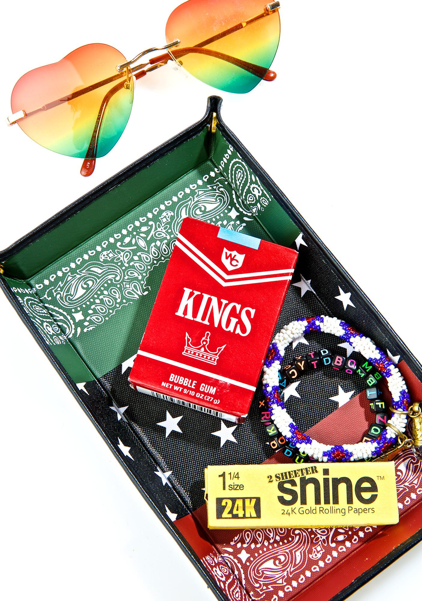 Black Scale RBG Bandana Accessory Tray