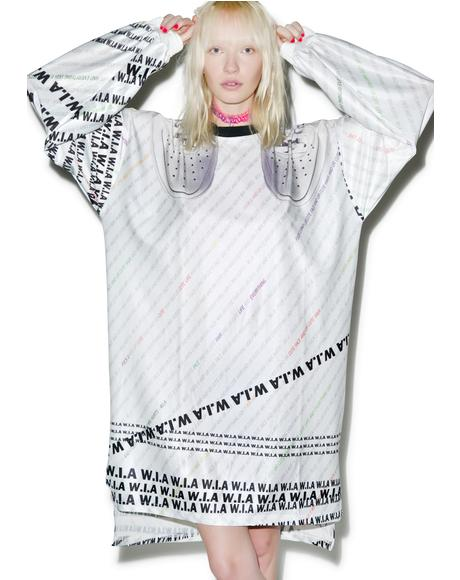 White W.I.A Extra Long T-Shirt
