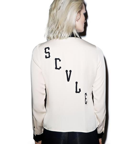 Black Scale Scvle Blouse