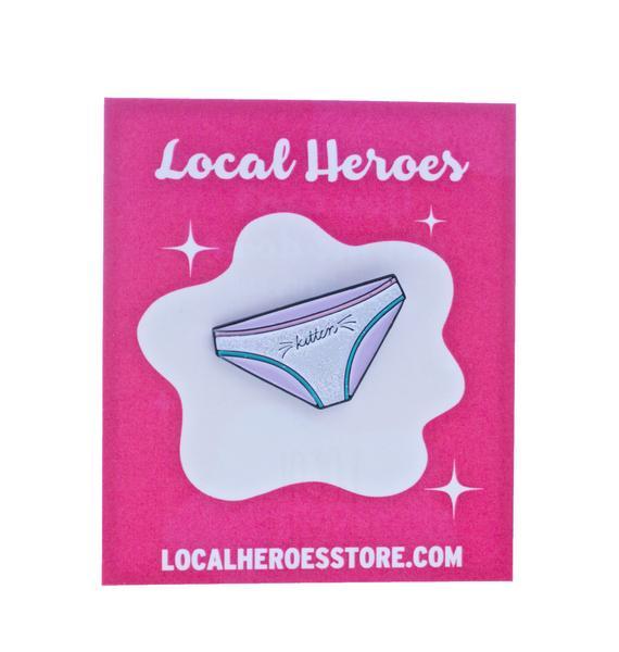 Local Heroes Kitten Glitter Pin