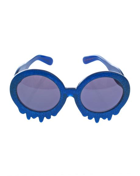 Blue Slime Time Sunglasses