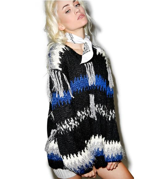 Black 'N Blue Crosby Fringe Sweater