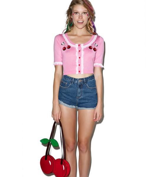 Sourpuss Clothing Cherry Bella Cardigan