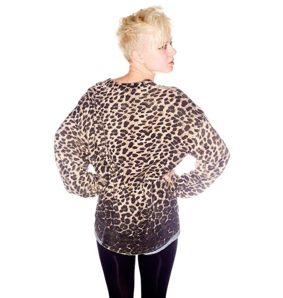 One Teaspoon Rising Leopard Pullover