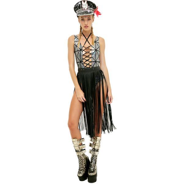 Follow Tha Music Lace-Up Bodysuit