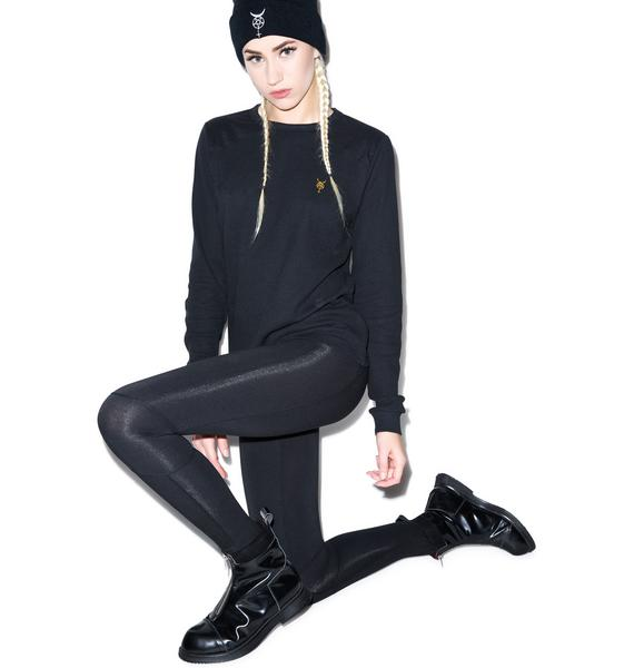 Black Scale Ala Leggings