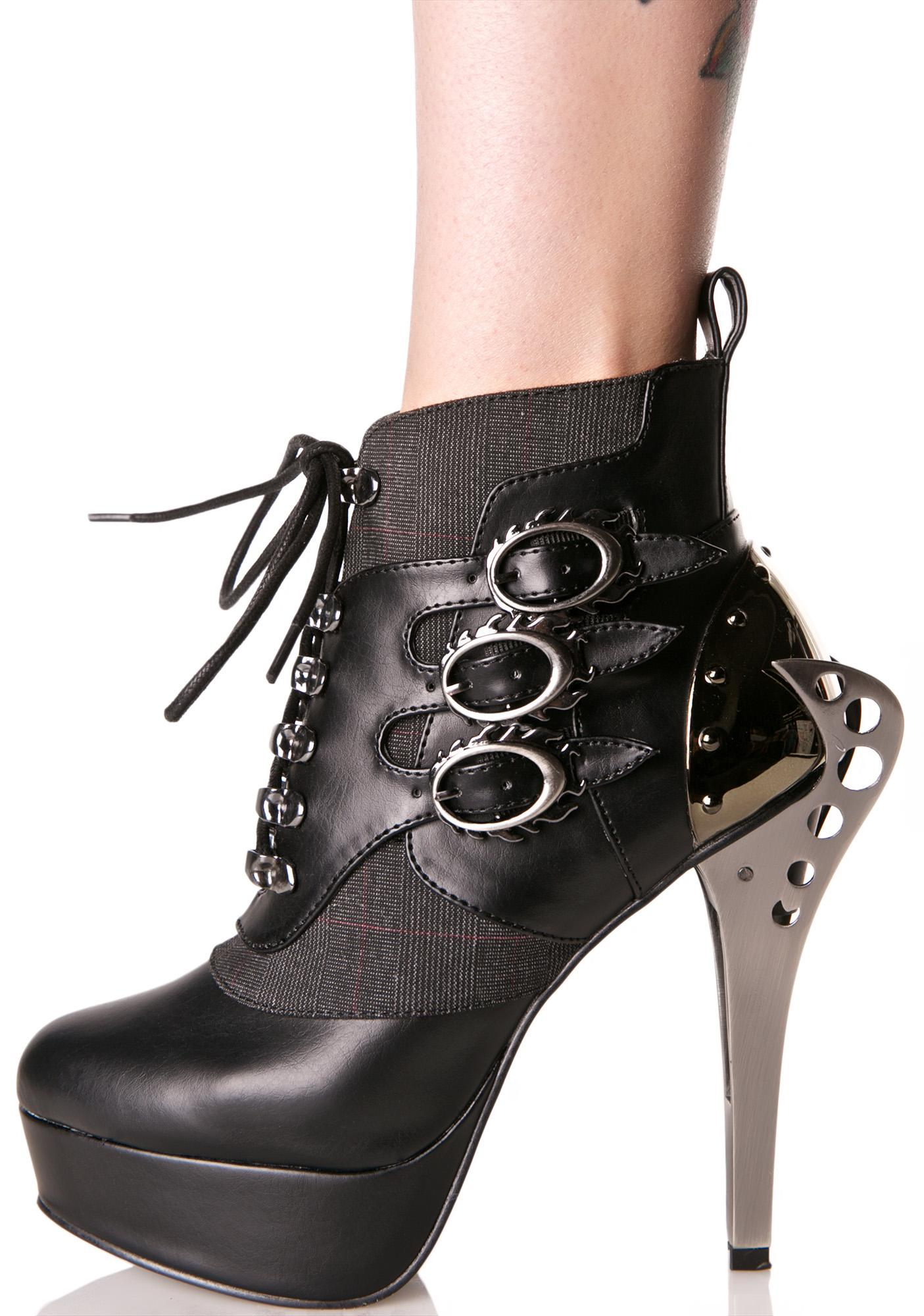 Hades Footwear Nemo Heeled Booties