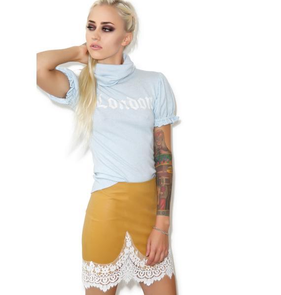 For Love & Lemons Giddy Up Suede Skirt