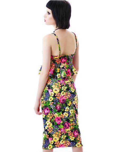 Bring Me Flowers Pencil Skirt