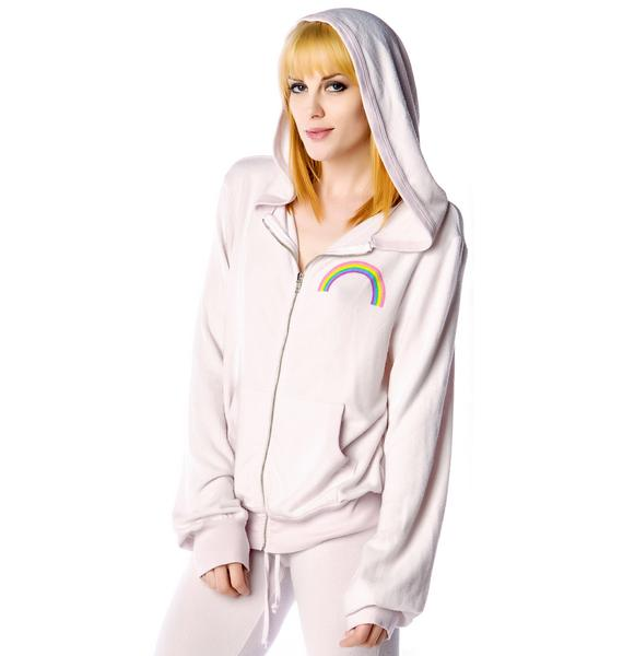 Wildfox Couture Somewhere Malibu Zip Up Hoodie