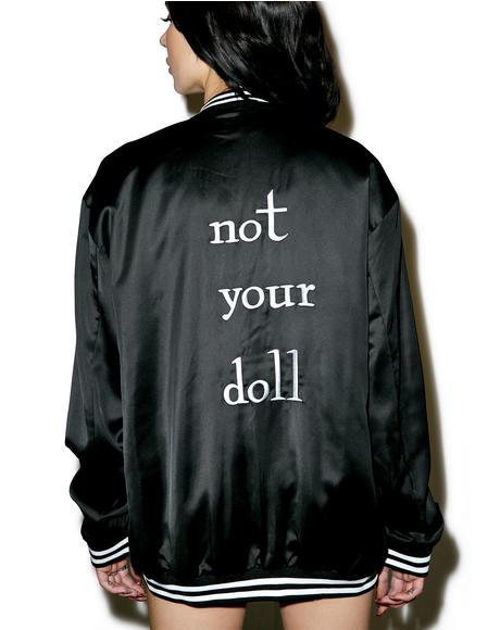 X Dolls Kill Not Your Doll Bomber Jacket