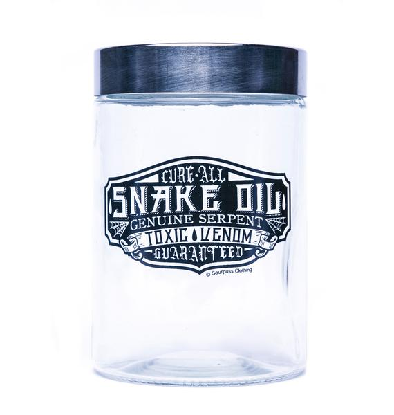 Sourpuss Clothing Snake Oil Apothecary Jar