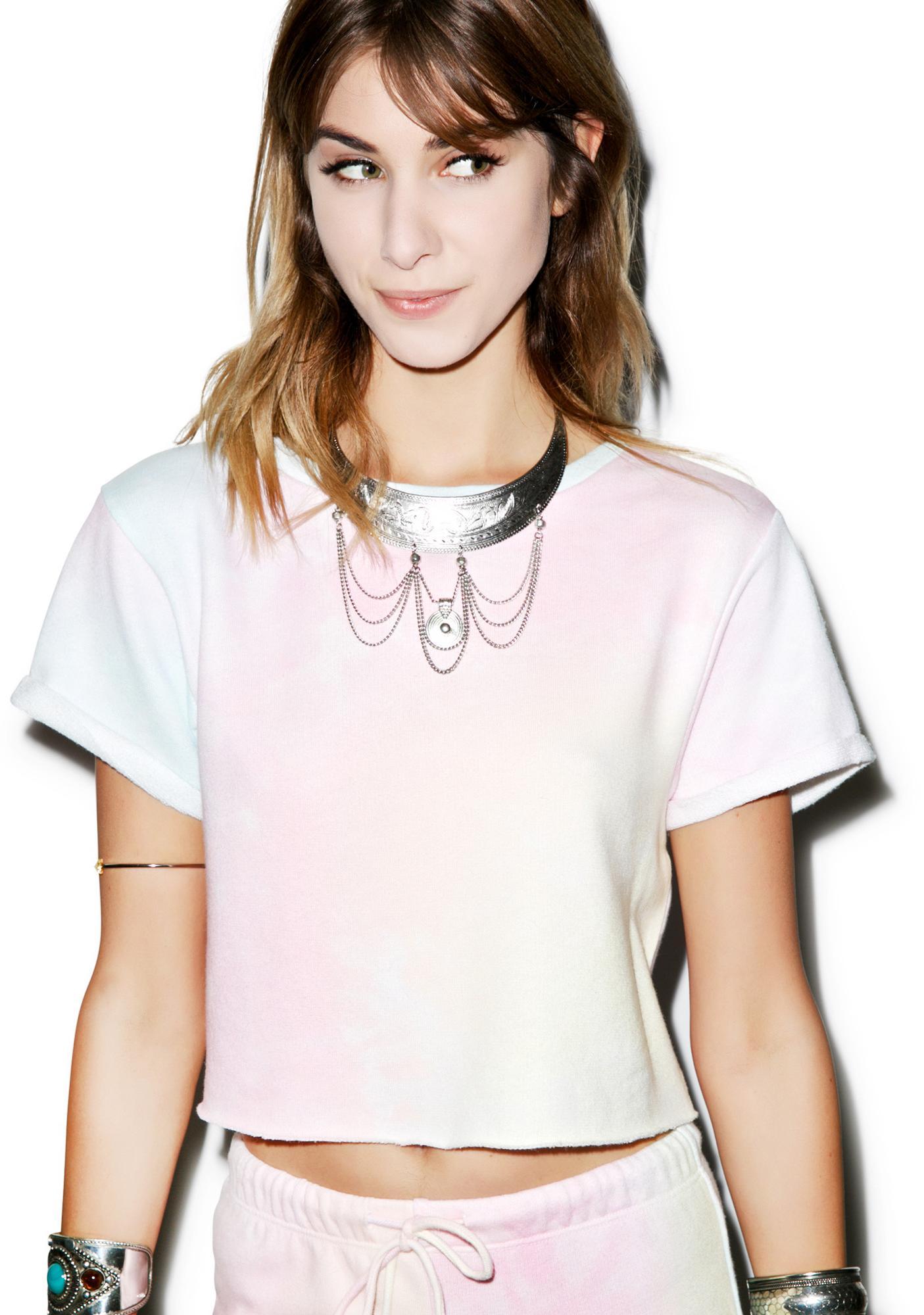 Wildfox Couture Dream Tie Dye Venice Crop Top