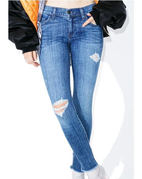 After Skool Blues Skinny Jeans