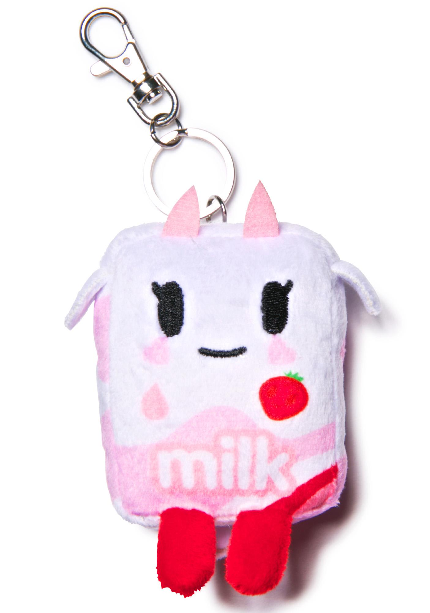 Tokidoki Strawberry Milk Moofia Plush Keychain