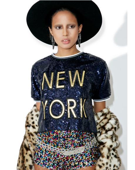 Empire State Sequin Tee