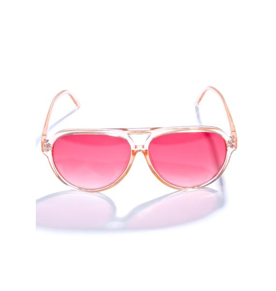 Crap Eyewear The Peachy Nite Shift Sunglasses