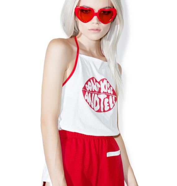 Camp Collection Don't Kiss And Tell Halter Tank