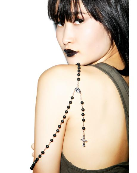 Scented Sinner and Saint Rosary Necklace