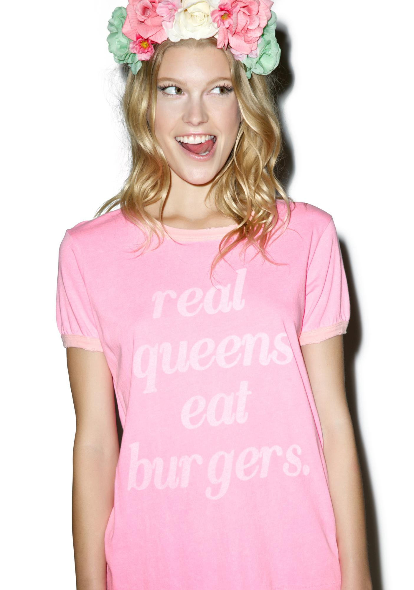Wildfox Couture Real Queens Vintage Ringer Tee