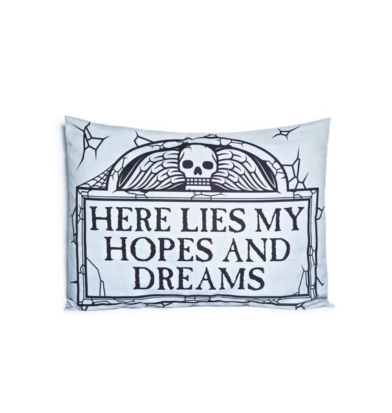 Sourpuss Clothing Here Lies Pillow Case Set