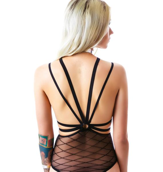 O-Darling Sheer Strappy Teddy