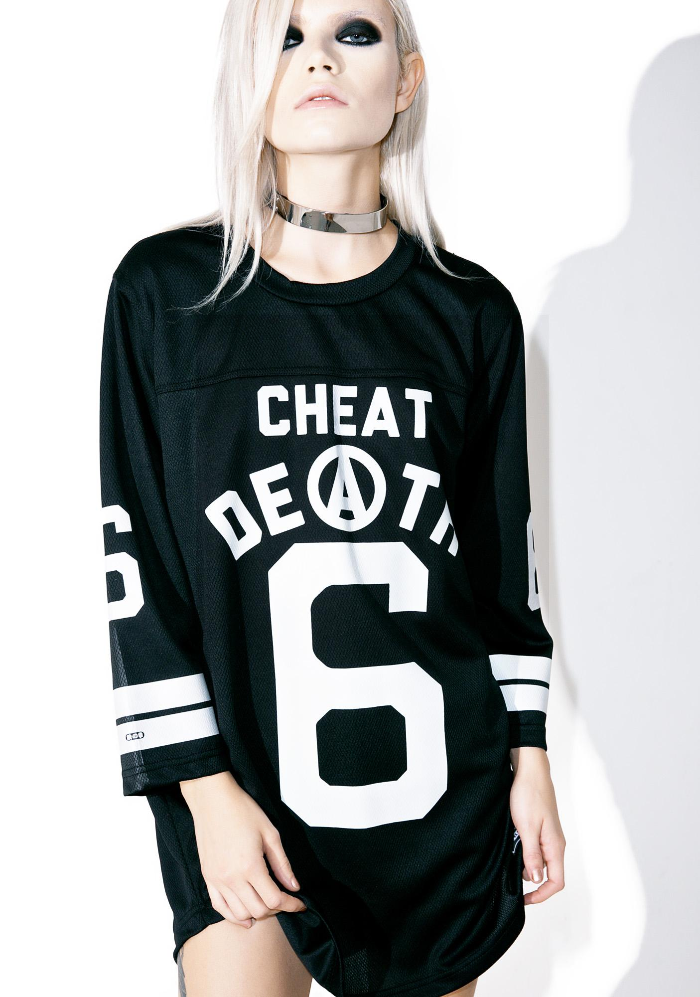 Iron Fist Cheat Death Football Tee
