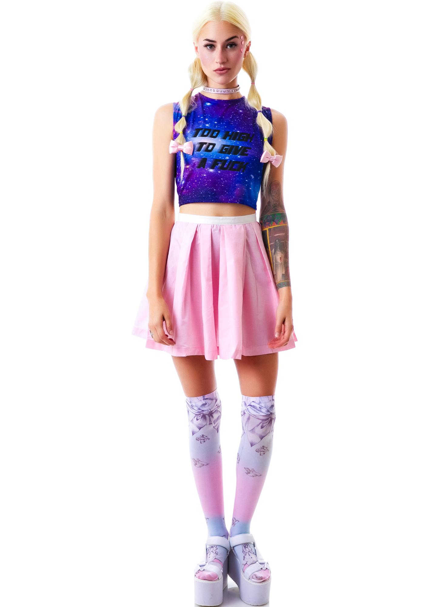 United Couture Give A Fuck Cosmic Crop Top