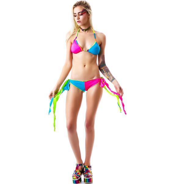Drum and Bass Harlequin Bikini