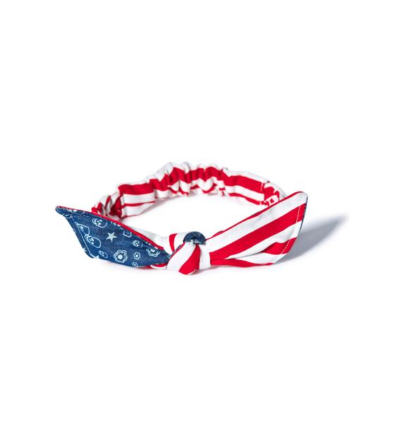 American Pie Bow Headband