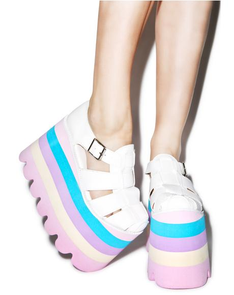 Perf Pastel Skylar Sandals