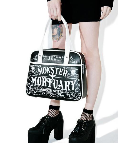Sourpuss Clothing Monster Mortuary Bowler Purse