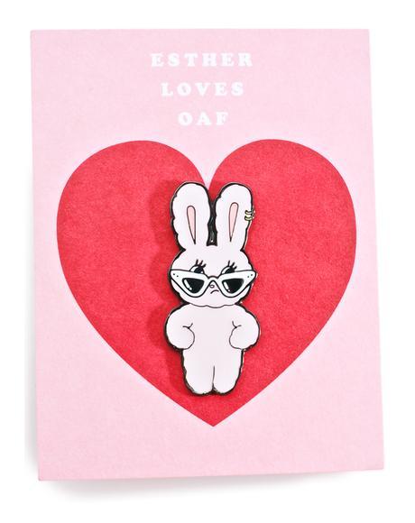 Esther Loves You Enamel Pin Badge