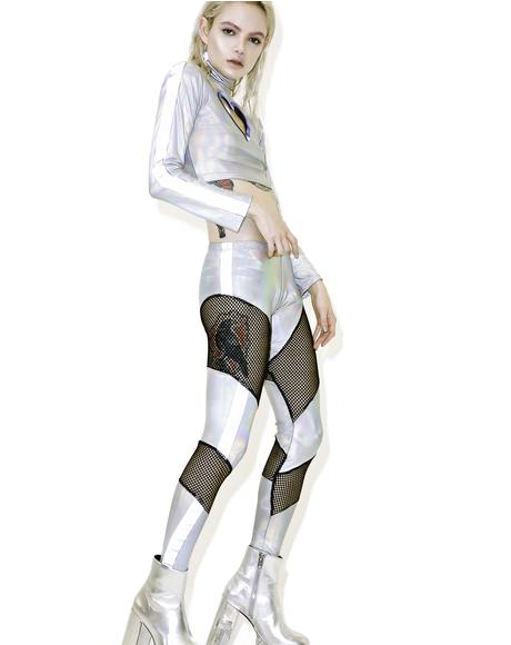 Reflective Mesh Leggings