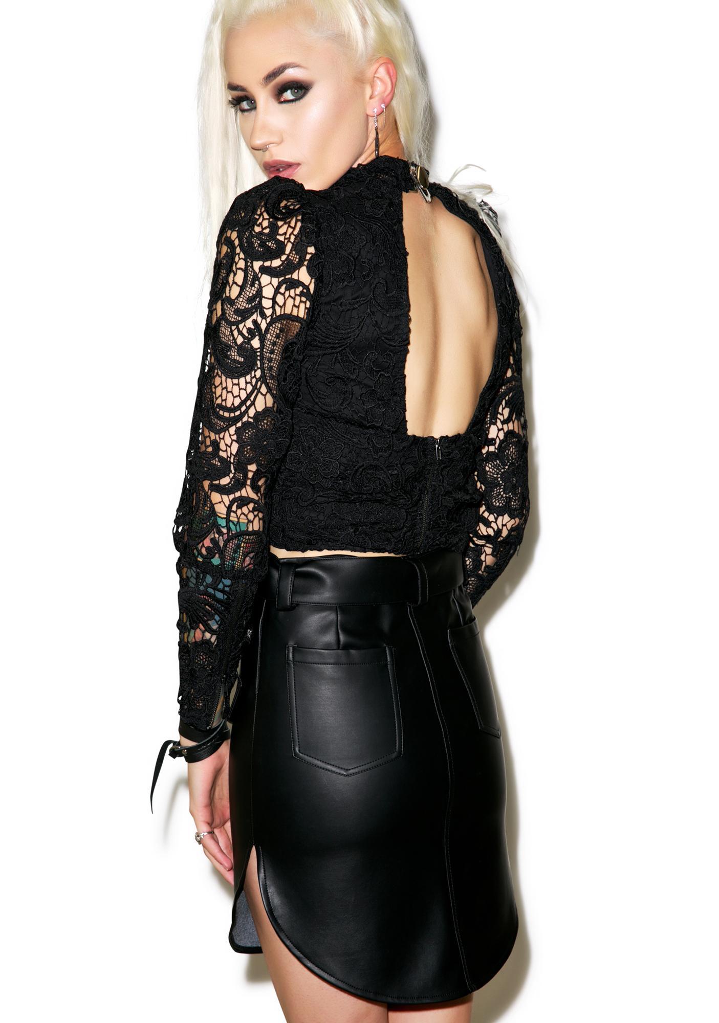Nightwalker Outlaw Leather Skirt