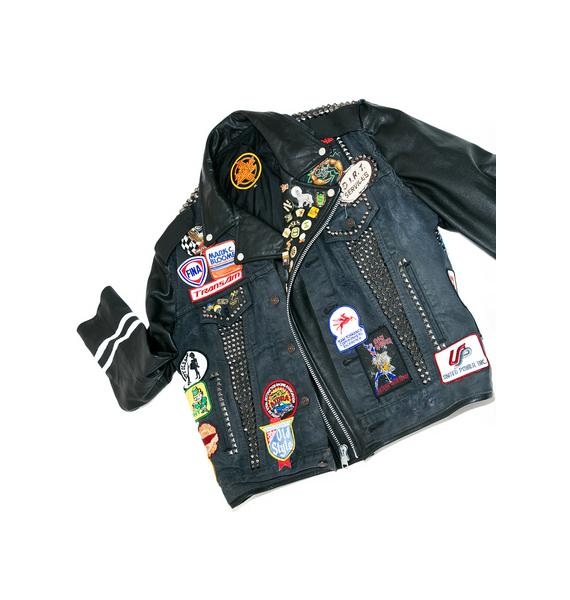 Hazmat Design Vintage Deadstock Denim 'N Leather Jacket