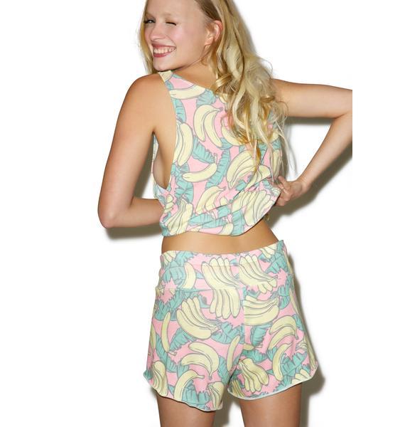 Wildfox Couture Banana Print Cutie Shorts