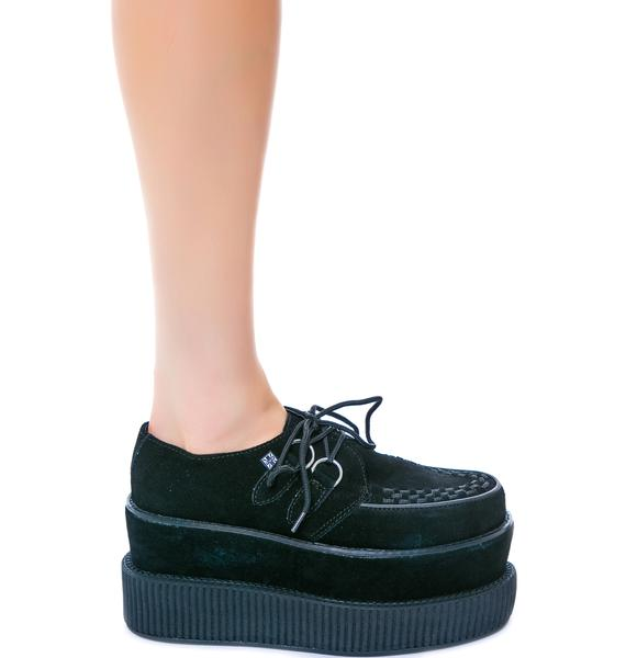 T.U.K. Suede Double Stacked Mondo Creeper