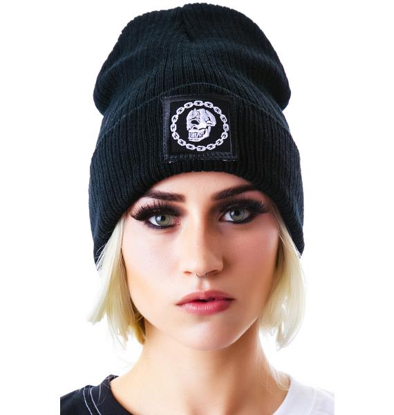Long Clothing x Mishka Chain Small Patch Beanie