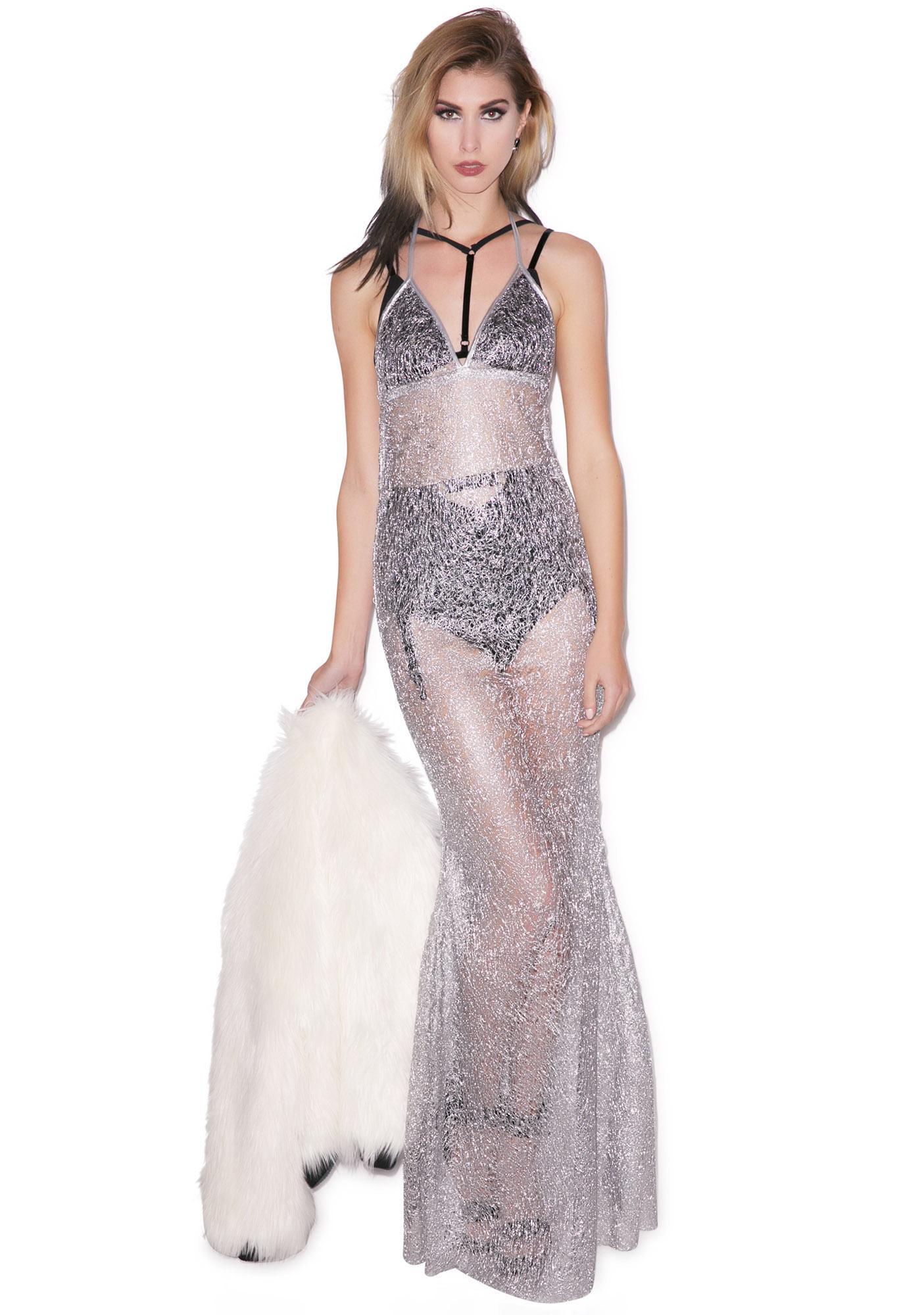 J Valentine Josie Stevens Spun Drizzle Gown